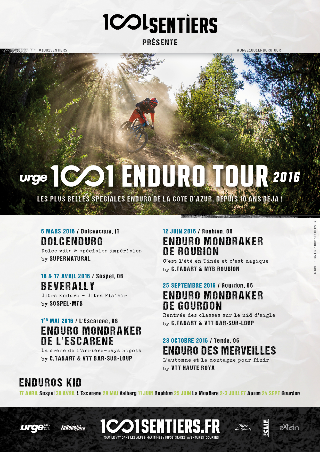 Affiche Urge 1001 Enduro Tour 2016 web
