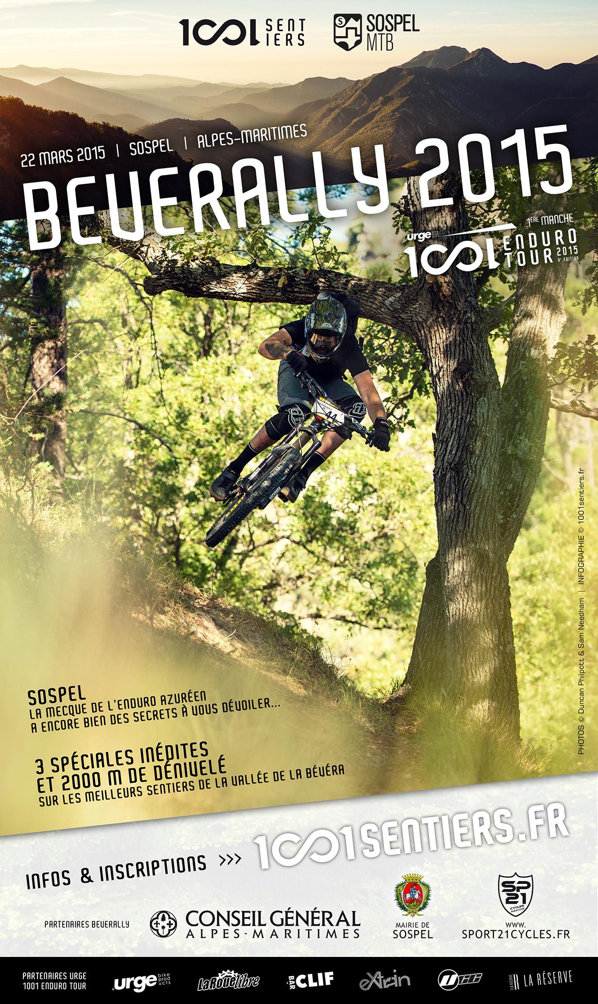 Affiche Beverally 2015 urge 1001 enduro tour