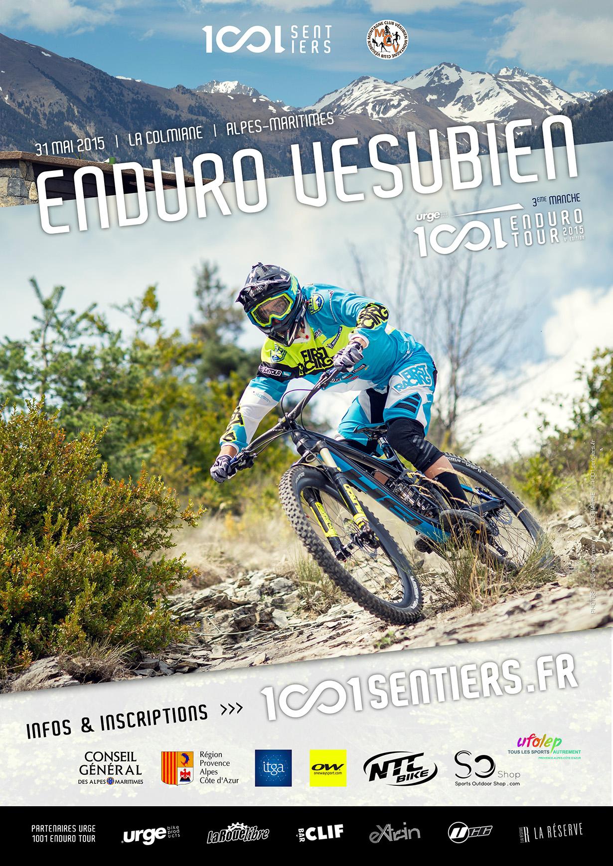 Affiche Enduro Vesubien 2015