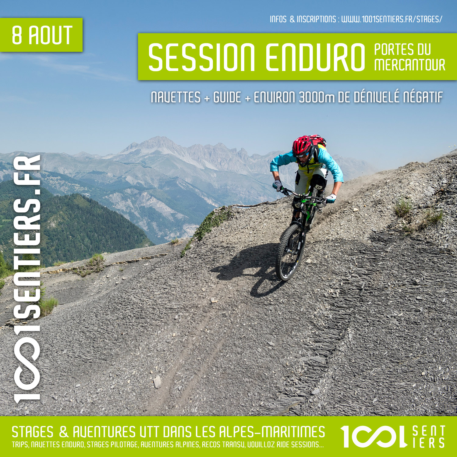 session enduro navettes portes du mercantour guillaumes