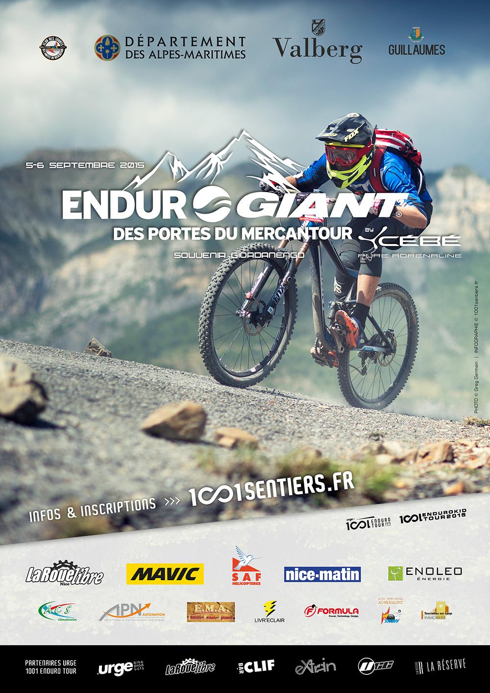 Affiche Enduro Giant des Portes du Mercantour 2015