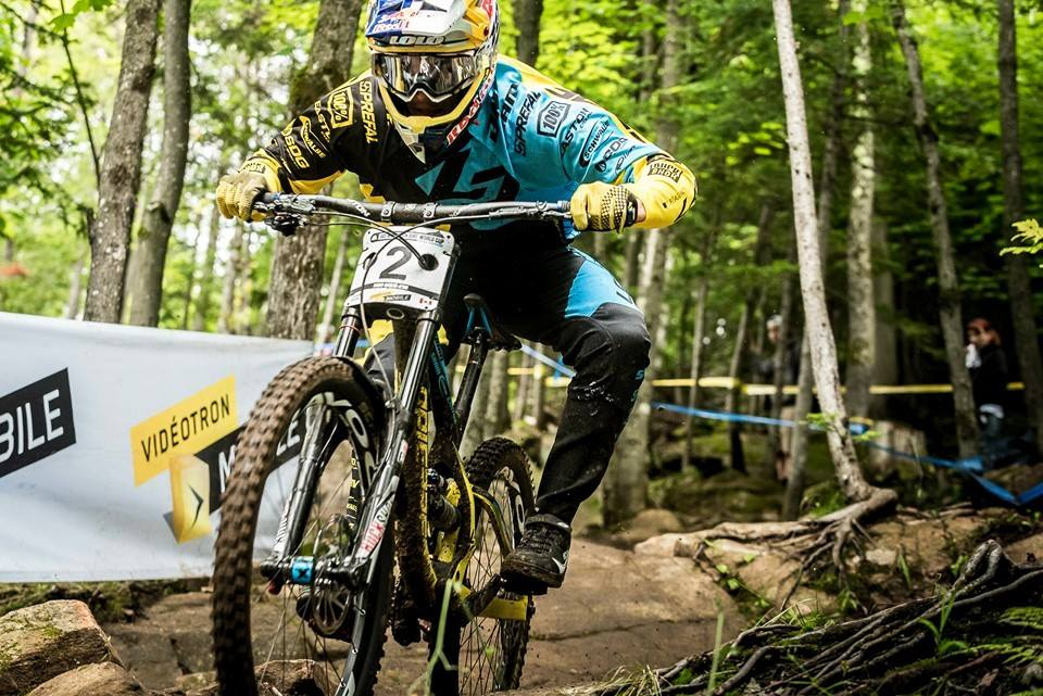 World Cup DH Mt Ste Anne Lapierre Bruni 3