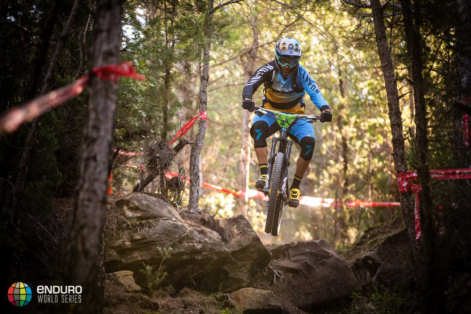 Fabien Barel in stage six. EWS round 7, Ainsa, Spain. Photo by Matt Wragg.