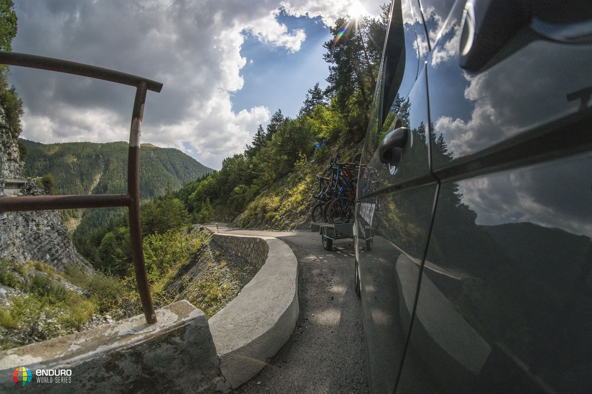 To cover plenty of trails we shuttled as far as possible to the top of stage 3, it involved some dicey moments!