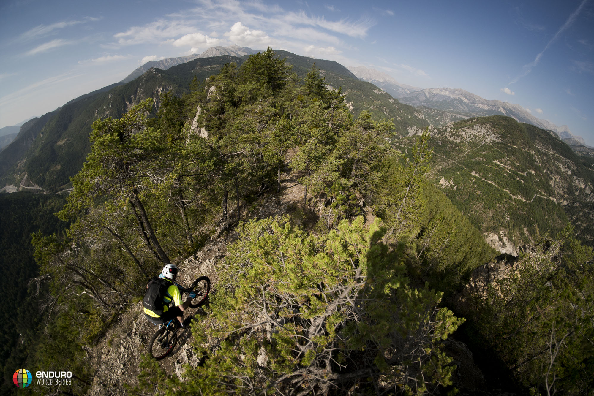 Riding ridgelines never gets old with the 360 degree views