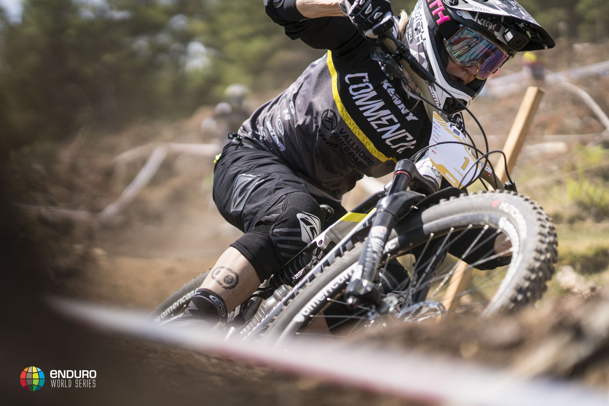You can count on Cecile Ravanel to look aggressive on a bike anywhere on track.