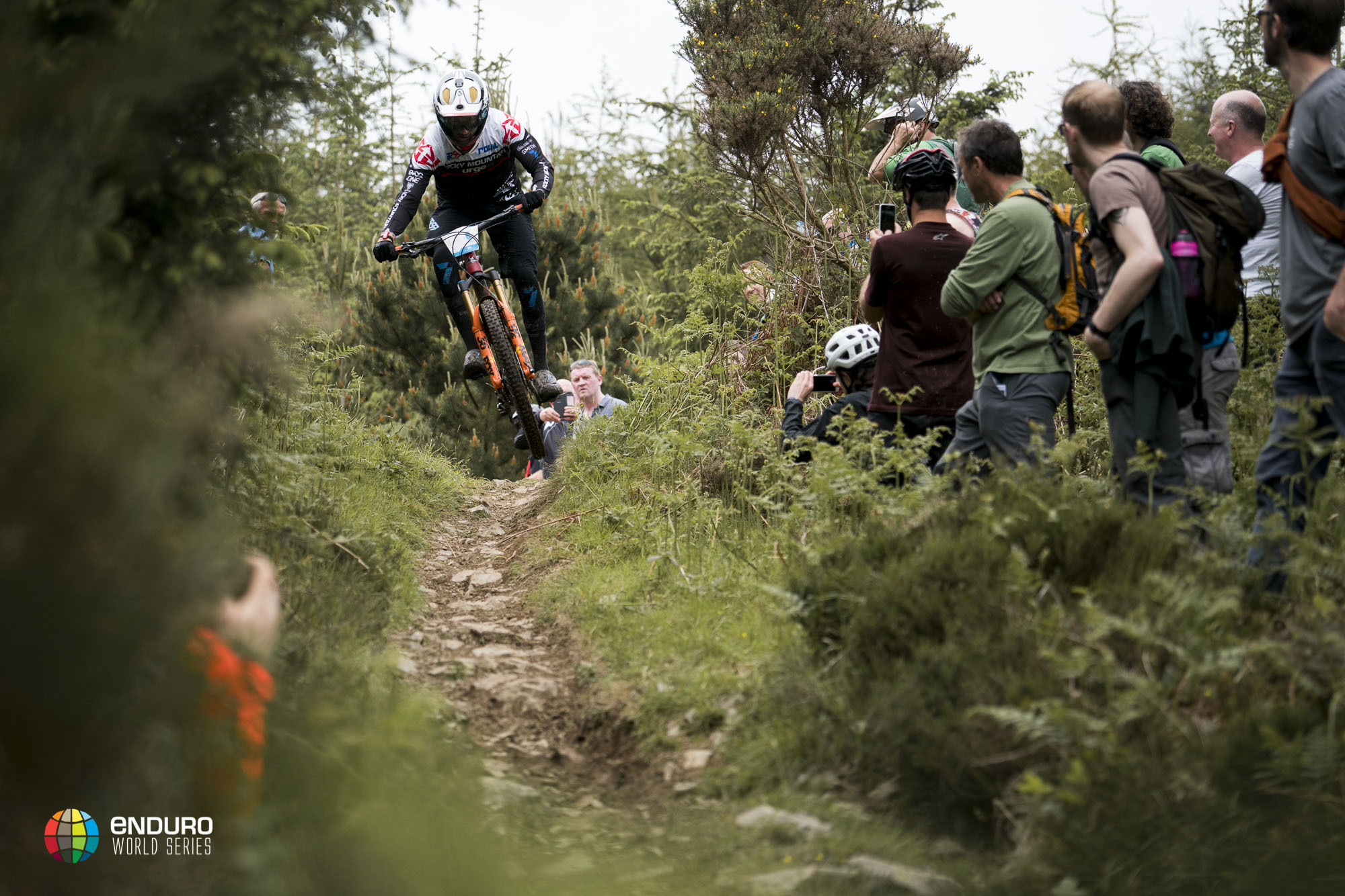 Florian Nicolai flies down the fast singletrack of stage 2. 8th place today