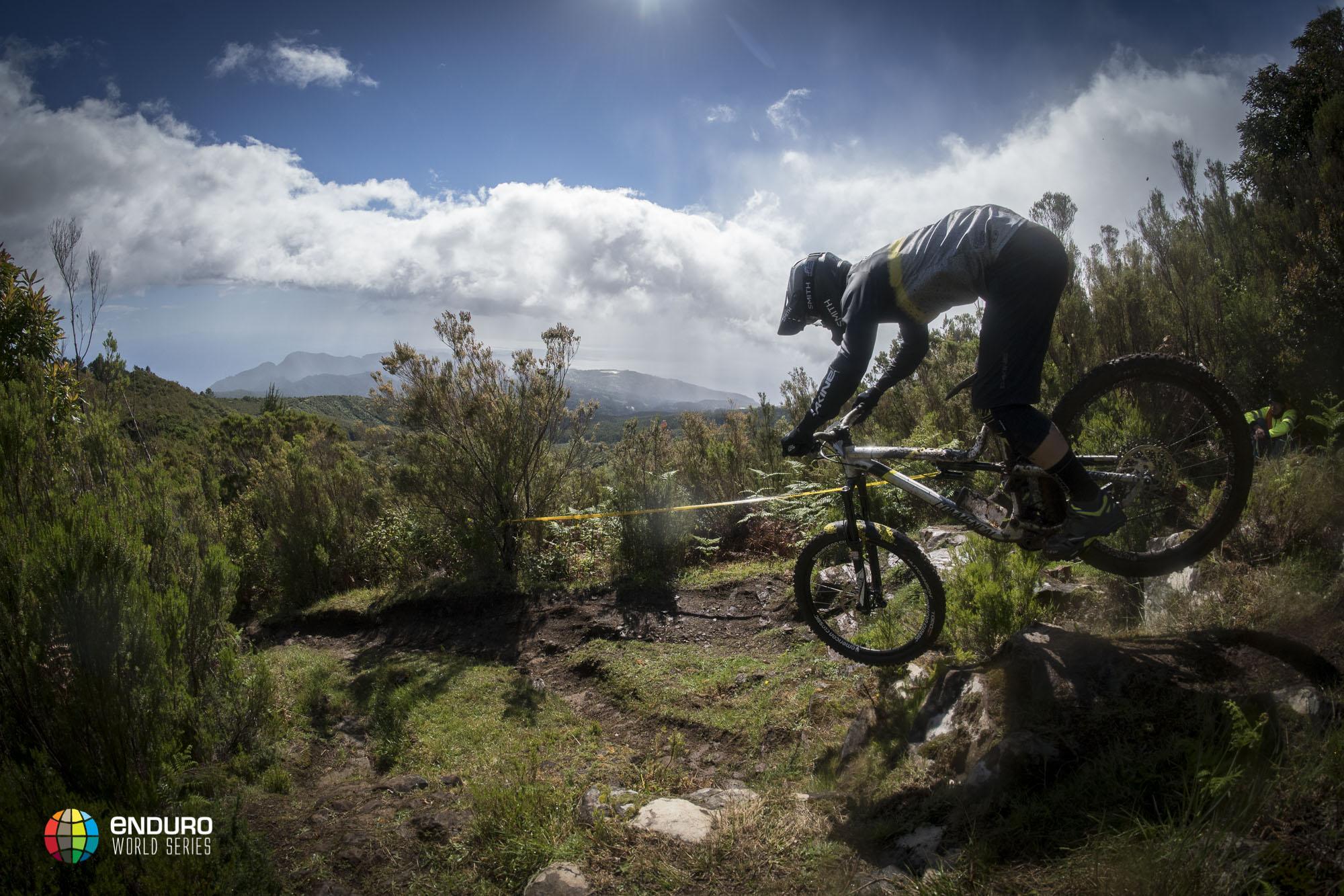 Yoann Barelli enjoying his new bike on stage 2