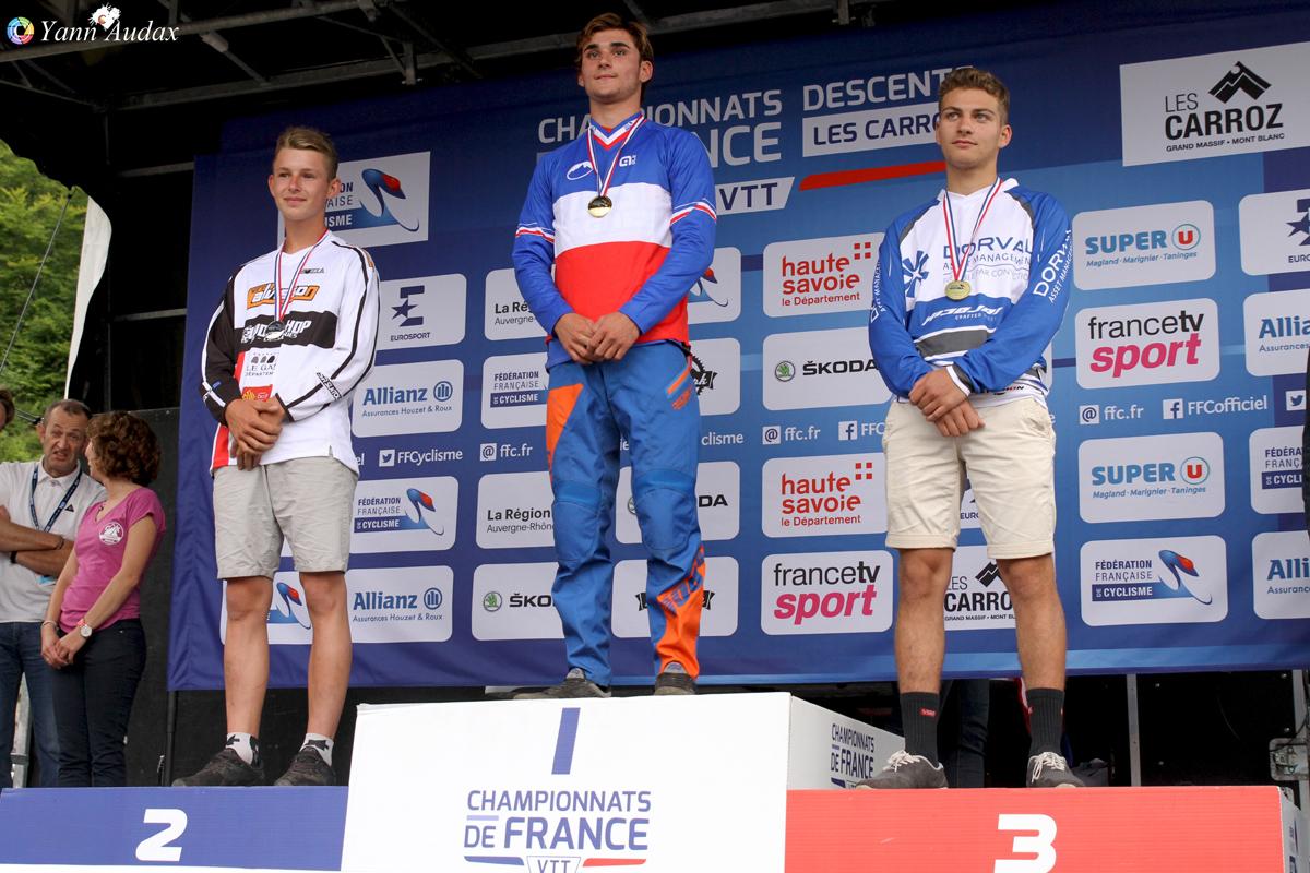 championnats france descente 2017 podium cadet_photo yann audax