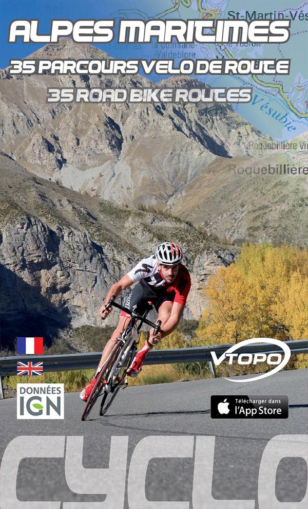 vtopo cyclo route topo 06 alpes-maritimes cote azur