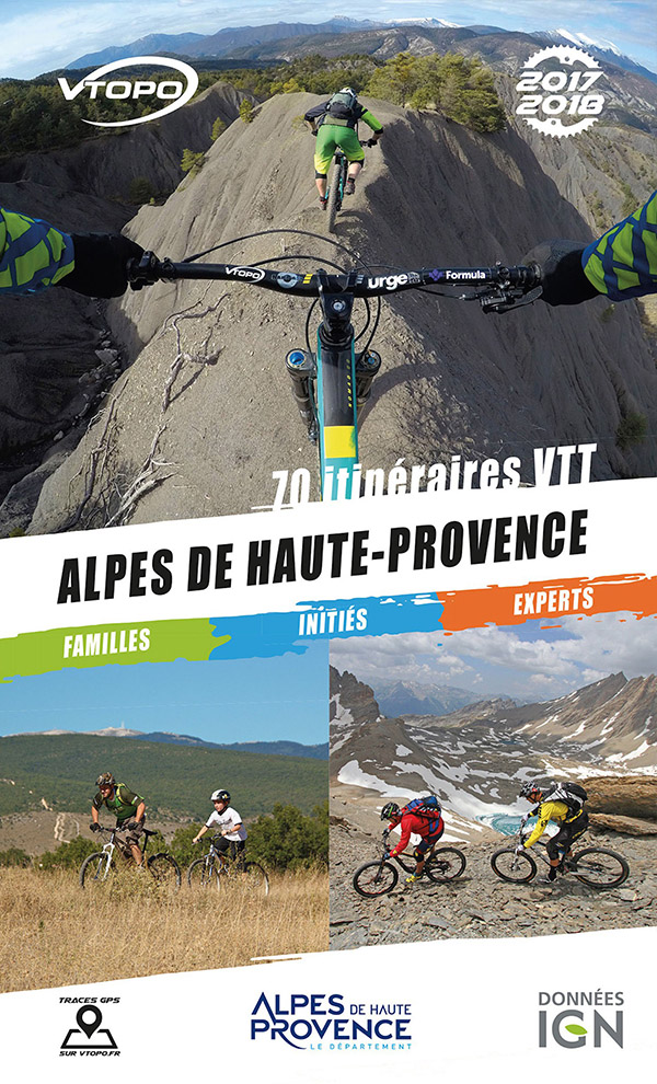 topoguide vtt vtopo mtb alpes haute provence 04