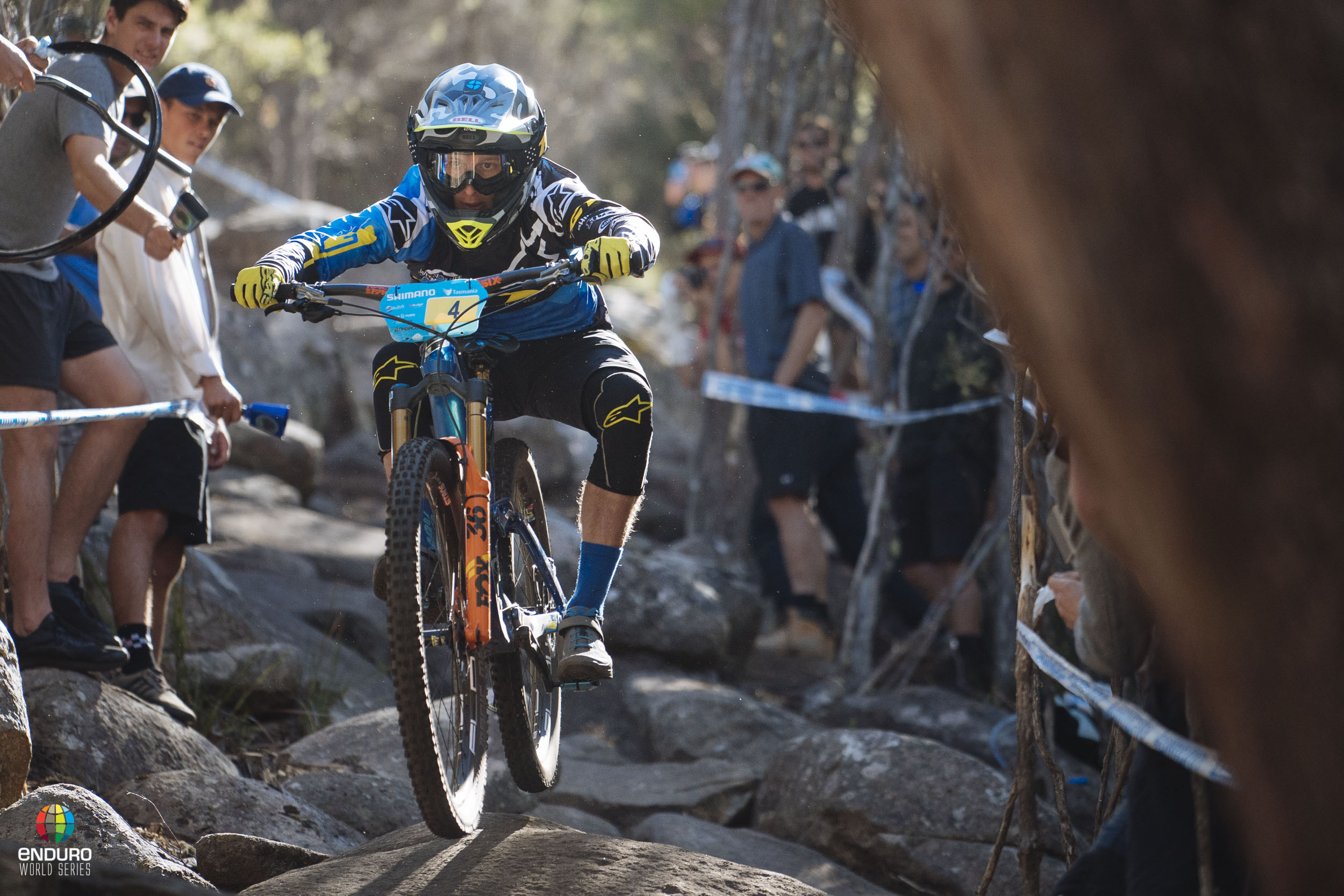Martin Maes was incredibly smooth through the rock garden of stage 5.