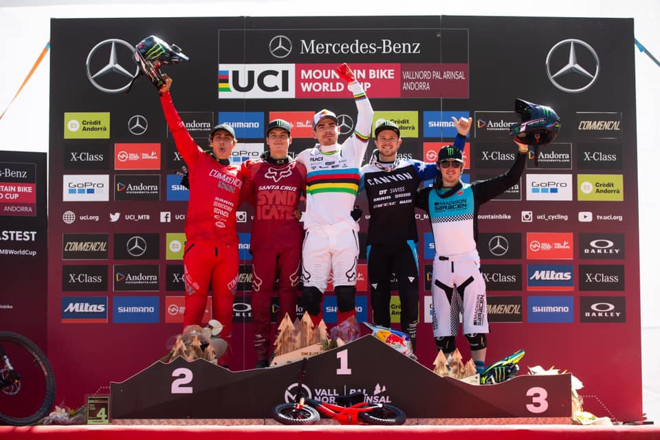 world cup dh vallnord 2019 podium