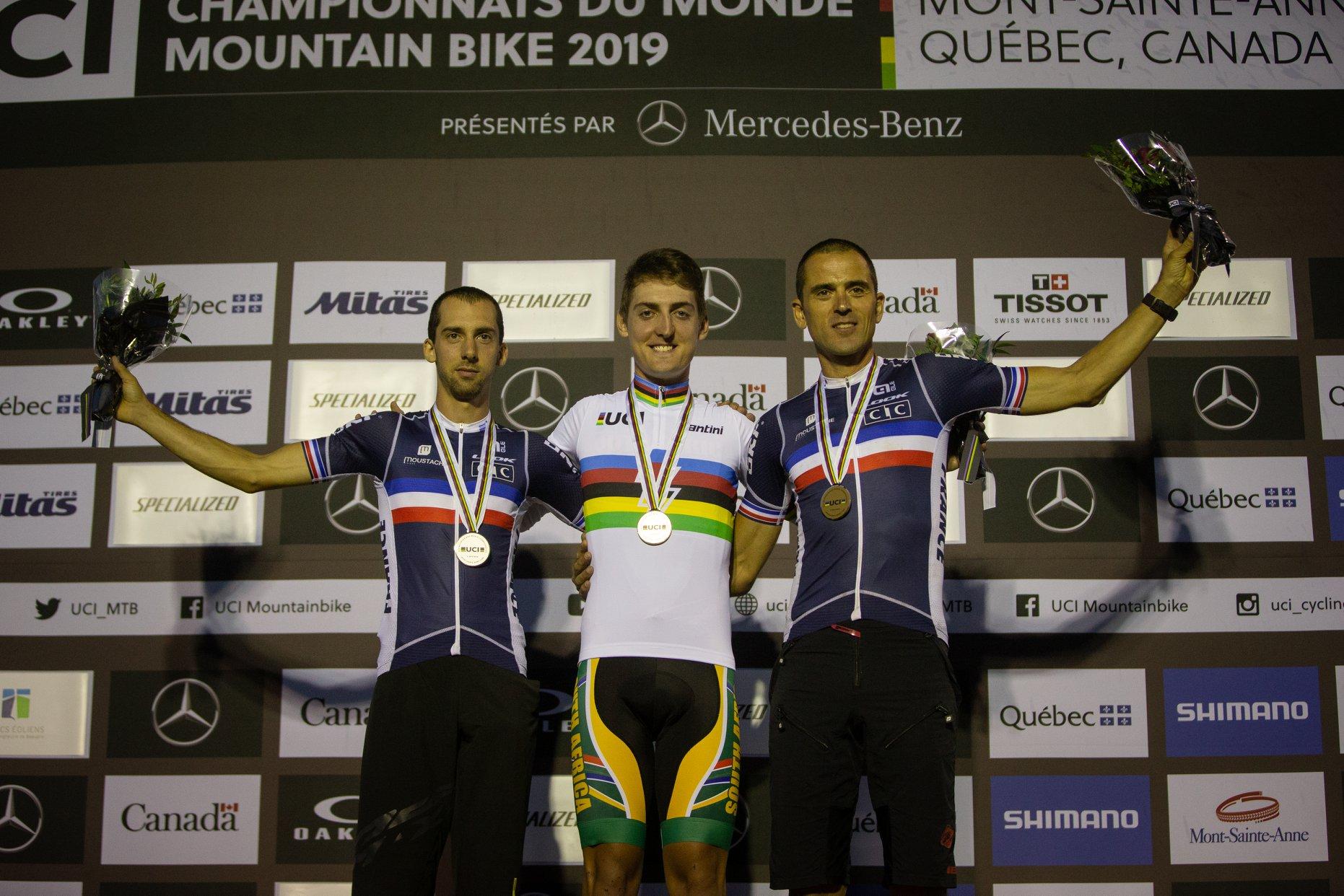 championnats monde uci e-MTB 2019 podium