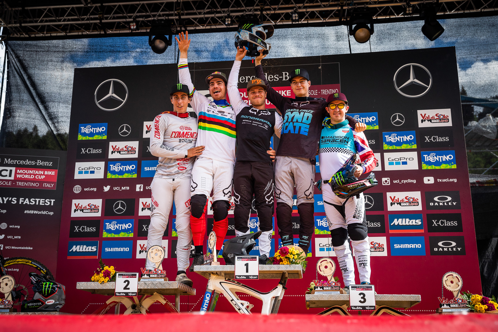 world cup dh val di sole 2019 podium