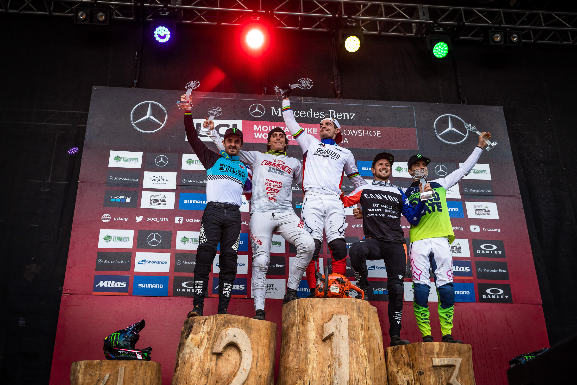 world cup dh snowshoe 2019 podium