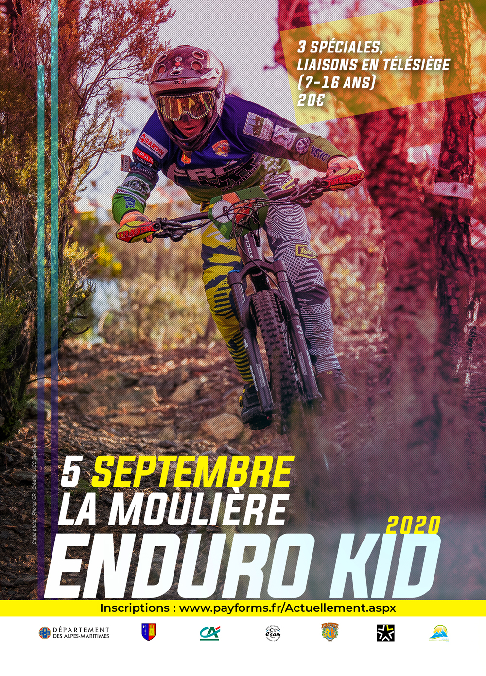 affiche enduro kid mouliere 2020